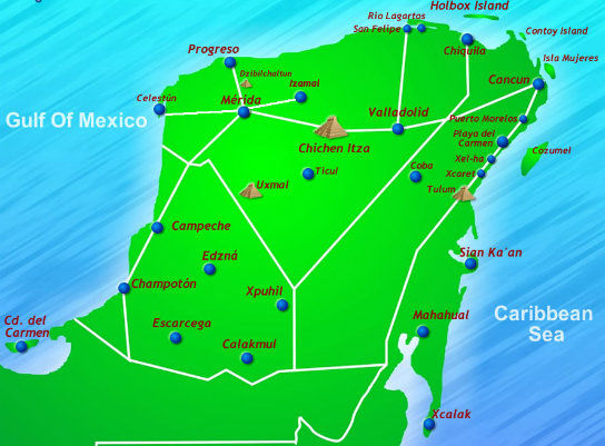Map-Yucatan-Peninsula